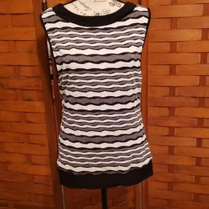 Striped tank top, petite, size unknown